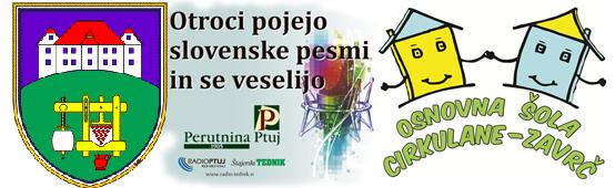 Otroci pojejo slovenske pesmi in se veselijo